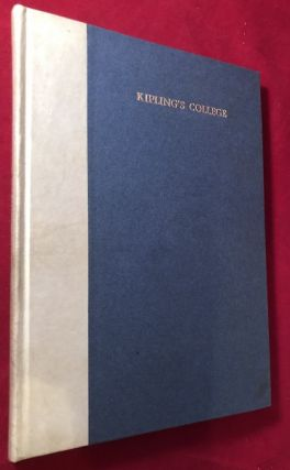Kipling's College (LTD to 100 Copies / WITH CARPENTER'S PERSONAL BOOKPLATE). Rudyard KIPLING, W....