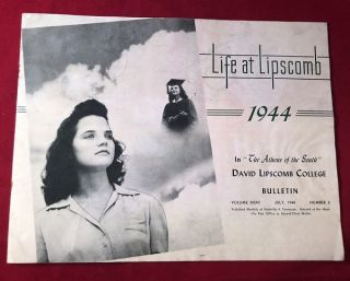 David Lipscomb College Bulletin / July, 1944. J. P. SANDERS, et all