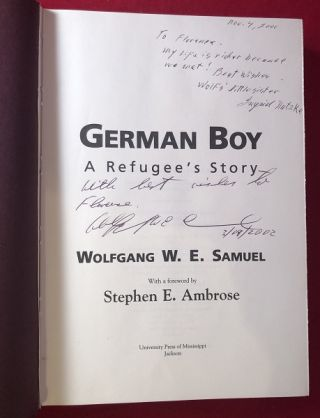 German Boy: A Refugee's Story (SIGNED BY AUTHOR AND HIS SISTER)