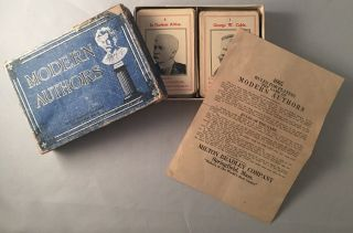 The Game of Modern Authors (Circa 1920); IN ORIGINAL BOX. Toys, Games, George CABLE, Samuel...