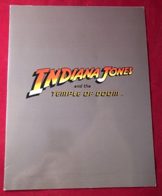 Indiana Jones and the Temple of Doom PRE-RELEASE Theater Screening Program. Steven SPIELBERG