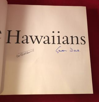 The Hawaiians (SIGNED BY BOTH AUTHORS)
