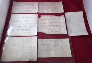 Collection of SIX Manuscript WAR DATE Letters from Gen. John P. Hawkins, Commander of US Colored...