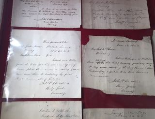 "Collection of SIX Manuscript WAR DATE Letters from Gen. John P. Hawkins, Commander of US Colored Troops; From the Collection of Thomas Truxton Moebs, author of ""Black soldiers - Black sailors - Black ink : research guide on African-Americans in U.S. military history, 1526-1900"""