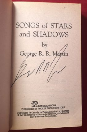 Songs of Stars and Shadows (SIGNED 1st Paperback)