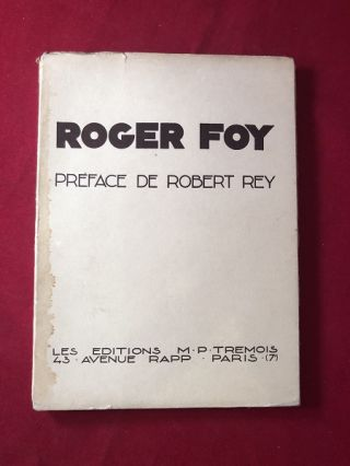 Roger Foy (#478/500 Copies). Art, Design, Roger FOY, Robert REY