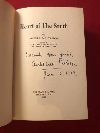 Heart of the South (SIGNED FIRST PRINTING)