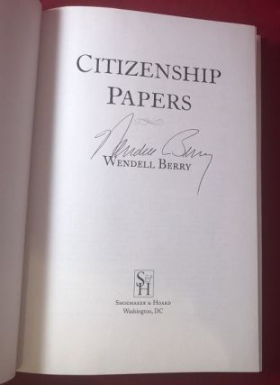 Citizenship Papers (SIGNED 1ST PRINTING)