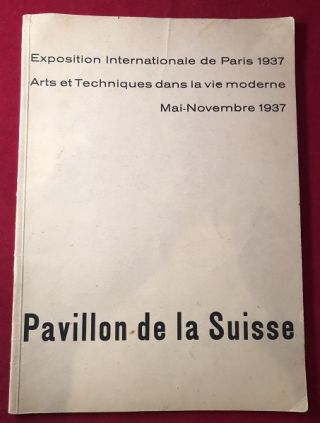 ORIGINAL PROGRAM - Exposition Internationale de Paris 1937 / Arts et Techniques dans la vie...