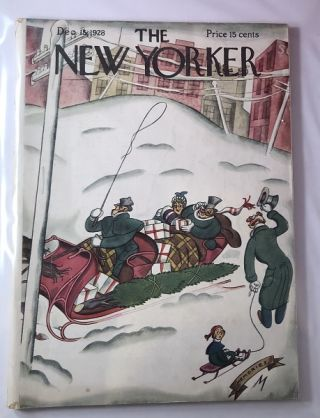 The New Yorker Magazine [ December 15, 1928] / Julian de Miskey Cover. THE NEW YORKER
