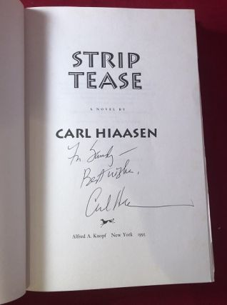 Strip Tease (SIGNED 1ST PRINTING)
