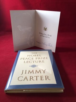The Nobel Peace Prize Lecture (SIGNED BOOKPLATE w/ LETTER). Jimmy CARTER
