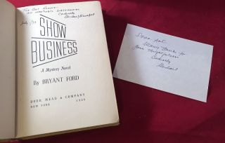 Show Business: A Fast-Moving Mystery (SIGNED X2 1ST)