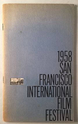 1958 San Francisco International Film Festival (SCARCE Original Program). Harold ZELLERBACH,...