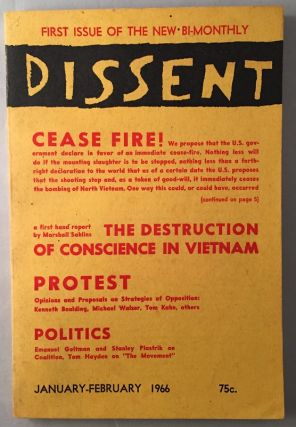 Dissent (January - February 1966). Politics & Social Sciences Law, Kenneth BOULDING, Michael WALZER, Tom KAHN, Emanuel GELTMAN, Jan HOWARD, et all.