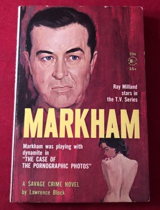 Markham (SIGNED PBO). Lawrence BLOCK