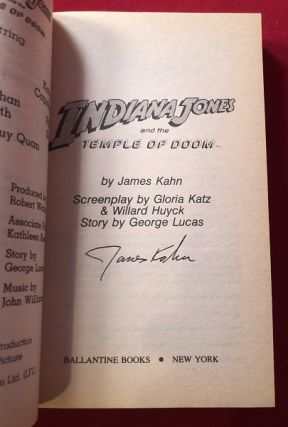 Indiana Jones and the Temple of Doom (SIGNED 1ST PRINTING)
