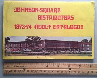 Johnson - Square Distributors 1973-74 Adult Catalogue. Johnson Square DISTRIBUTORS