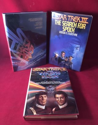 Star Trek Film Novelization Run (SIGNED BCE Star Trek II, III & IV). Vonda MCINTYRE, Leonard...
