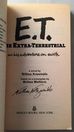 E.T. The Extra-Terrestrial (Signed Paperback Original)