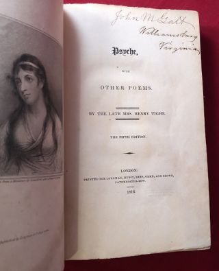 Psyche, with Other Poems. Mrs. Henry TIGHE