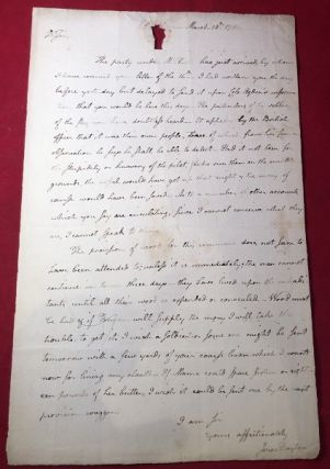 1782 Revolutionary War Content Letter from U.S. Constitution Signer Jonathan Dayton TO his...