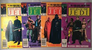 Return of the Jedi FOUR Issue Comic Run SIGNED BY WARWICK DAVIS. Warwick DAVIS, George LUCAS,...