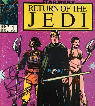 Return of the Jedi FOUR Issue Comic Run SIGNED BY WARWICK DAVIS