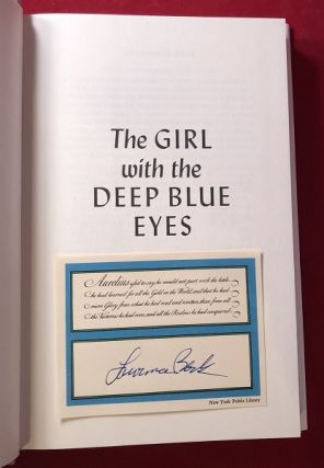 The Girl with the Deep Blue Eyes (SIGNED FIRST HARDCOVER EDITION)