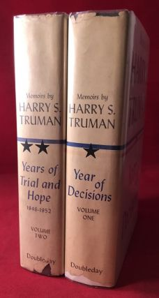 Memoirs by Harry S. Truman (2 VOLUME SET / SIGNED)