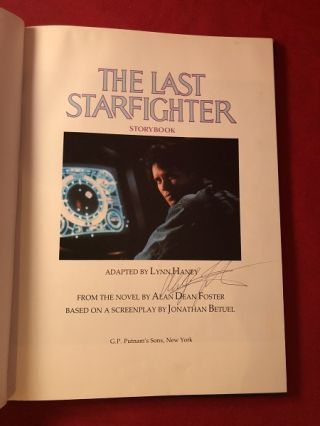 The Last Starfighter Storybook (SIGNED BY ALAN DEAN FOSTER)