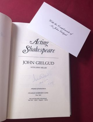 Acting Shakespeare (SIGNED 1ST)