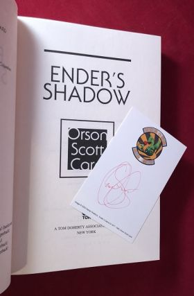 Ender's Shadow (SIGNED ON AUTHOR'S PERSONAL BOOKPLATE)