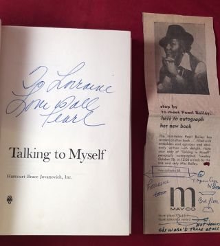 Talking to Myself (SIGNED X 2 PLUS AUTOGRAPH EVENT CLIPPING)
