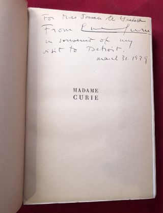 Madame Curie (SIGNED 1ST)