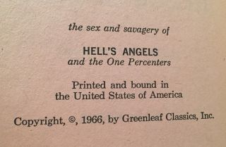 The Sex and Savagery of Hell's Angels (Paperback Original)