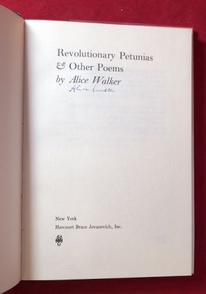 Revolutionary Petunias & Other Poems (SIGNED 1ST)