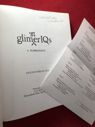 Glimmer IQs (SIGNED FIRST PRINTING)