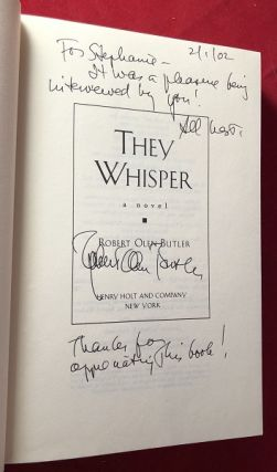 They Whisper (SIGNED TO INTERVIEWER)