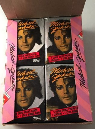 1984 Unopened Box of MICHAEL JACKSON Trading Cards (36 Packs)