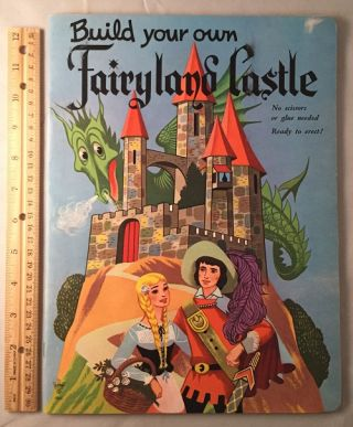 Build Your Own Fairytale Castle; No scissors or glue needed - Ready to erect!