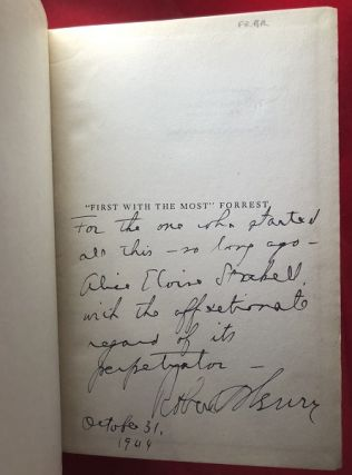"""""""First with the Most"""" - FORREST (SIGNED ASSOCIATION COPY)"""