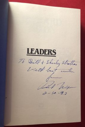 Leaders: Profiles and Reminiscences of Men Who Have Shaped the Modern World (SIGNED TO ILLINOIS GOVERNOR BILL STRATTON)