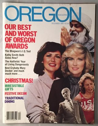 December, 1984 Oregon Magazine (FIRST MAJOR PUBLICITY FOR THE FILM PUBLISHED DURING THE FILMING...