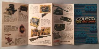 Official 1978 Coleco Toys and Games Fold-Out Product Catalog; THIRD AND FINAL PHASE OF THE POPULAR 'TELSTAR' SYSTEMS!