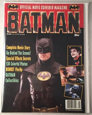 BATMAN Official Movie Souvenir Magazine. Michael KEATON, et all