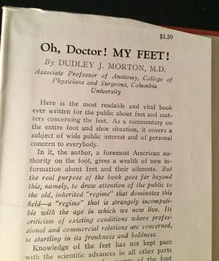 Oh Doctor! My FEET! (FIRST EDITION IN SCARCE ORIGINAL DUST JACKET)