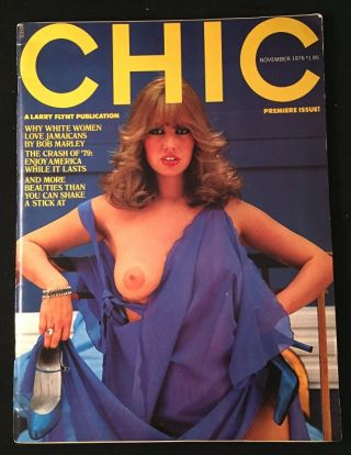 CHIC Magazine ISSUE #1. Larry FLYNT, et all, Paul, ERDMAN