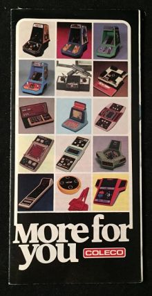 1982 Coleco Hand-Held Game 16-PP Folding Catalog. Inc Coleco Industries