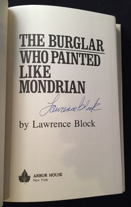 The Burglar Who Painted Like Mondrian (SIGNED FIRST EDITION)